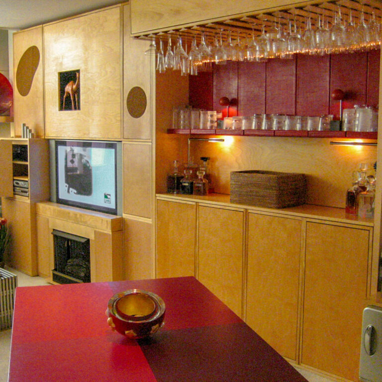 Bar and Entertainment Center