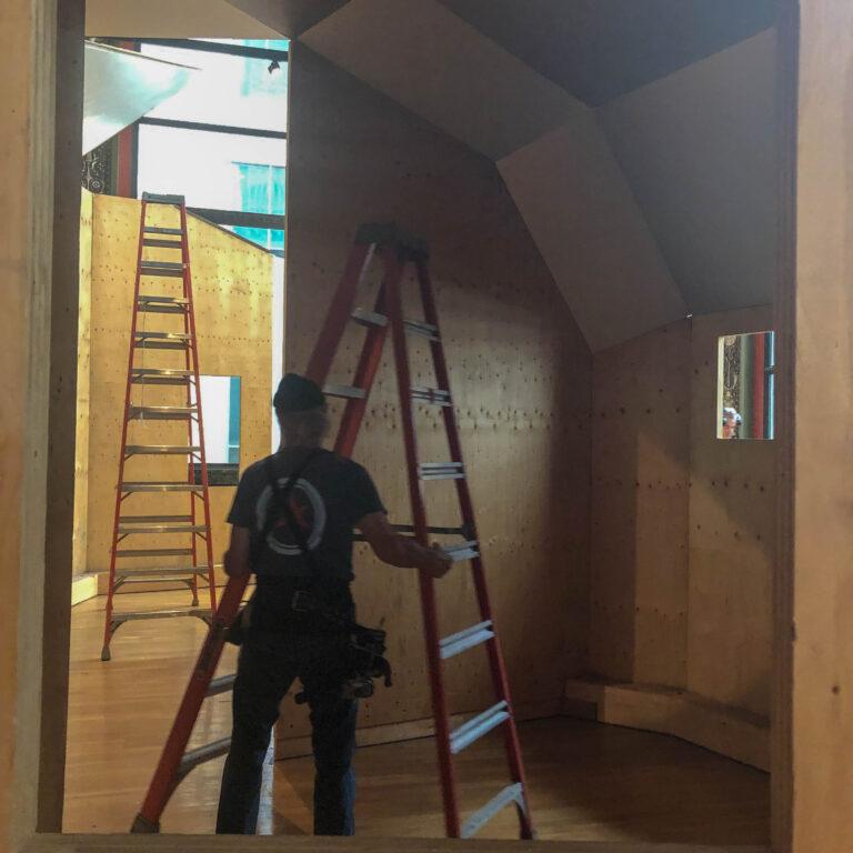 Installation in-process - interior view