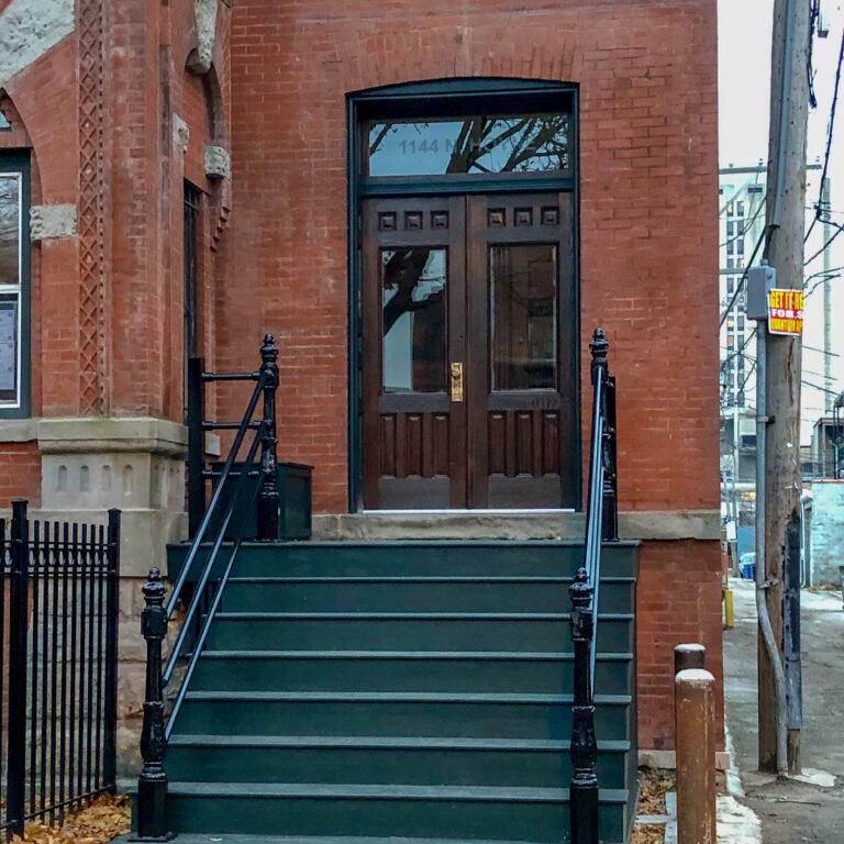 Custom porch with restored entryway
