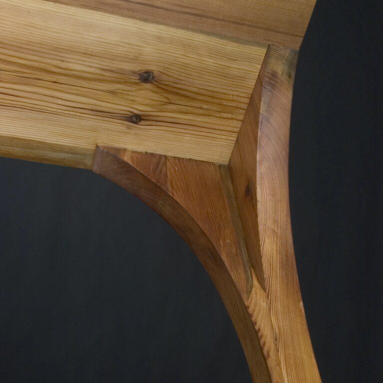 Interior leg joinery detail