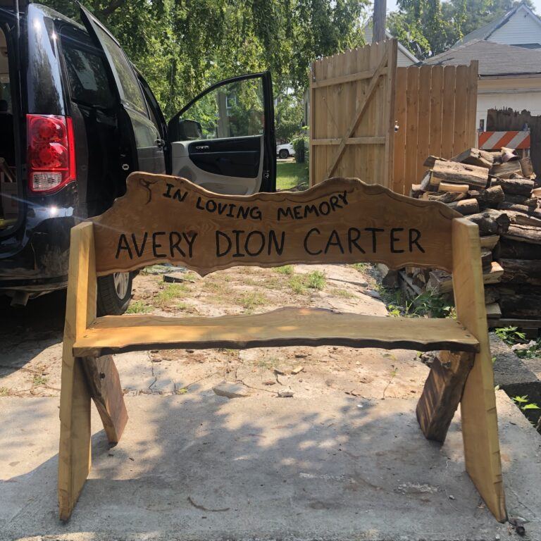 Memorial Bench for Avery Dion Carter