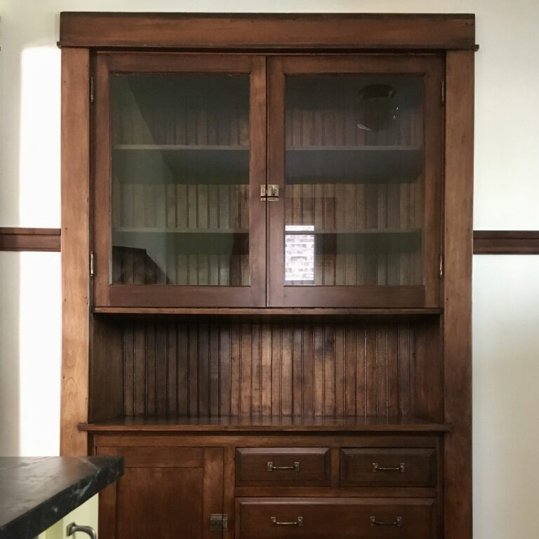 Fully Restored Hutch - Waxed Hardware, Repaired Broken Drawer Bottoms